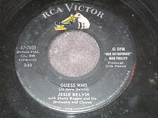 Jesse Belvin, Guess Who / My Girl Is Just Enough Woman For Me