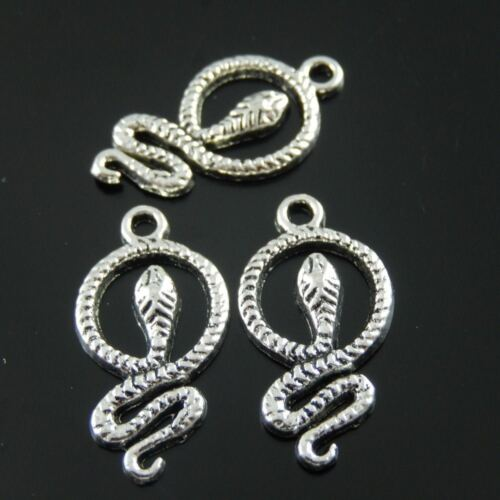 38061 Antique Style Silver Tone Alloy Chic Snake Pendant Charm Finding 70PCs