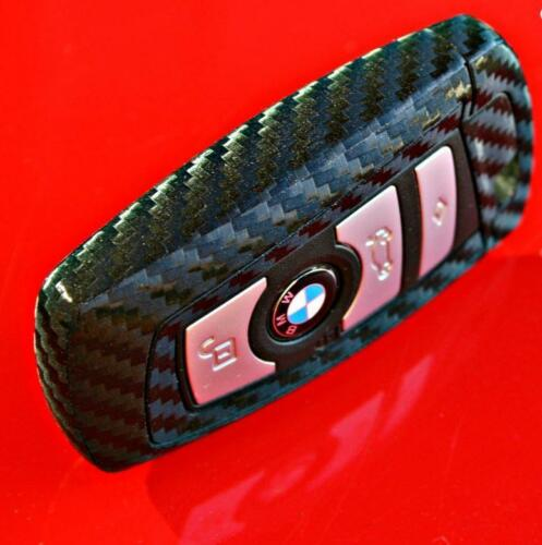 BMW Key Black Carbon Fiber Key Decor Interior Decal Sticker Coating Fob Wrap