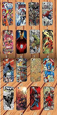 Wrapped Marvel X-Men Batman Hulk Flash Comics for iPhone And Samsung Case