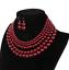 Women-Bohemian-Choker-Chunk-Crystal-Statement-Necklace-Wedding-Jewelry-Set thumbnail 58