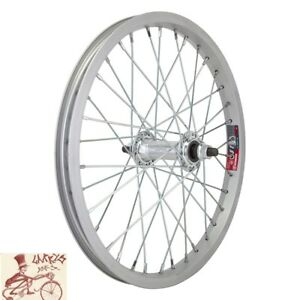 WHEEL-MASTER-16-034-x-1-75-034-ALLOY-SILVER-BICYCLE-FRONT-WHEEL