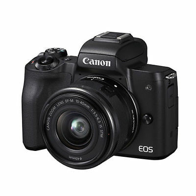 Nuovo Canon EOS M50 15-45mm IS STM lens - Black Nero