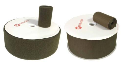 "50 cm Cinta marca VELCRO® 100 mm verde Nato 10cm coser pelo pincho hook loop 4/"""