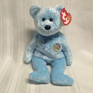 9502b9021a2dd8 Ty Beanie Babies Bear - Decade - January 22, 2003 - 10 YEAR ...