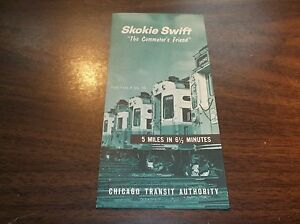 1965 CHICAGO TRANSIT AUTHORITY SKOKIE SWIFT PUBLIC TIMETABLE #13