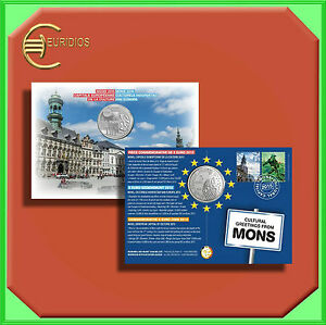 5-Euro-Gedenkmuenze-Coin-Coins-Belgien-2015-034-Kulturhauptstadt-Mons-034-Coin-Card