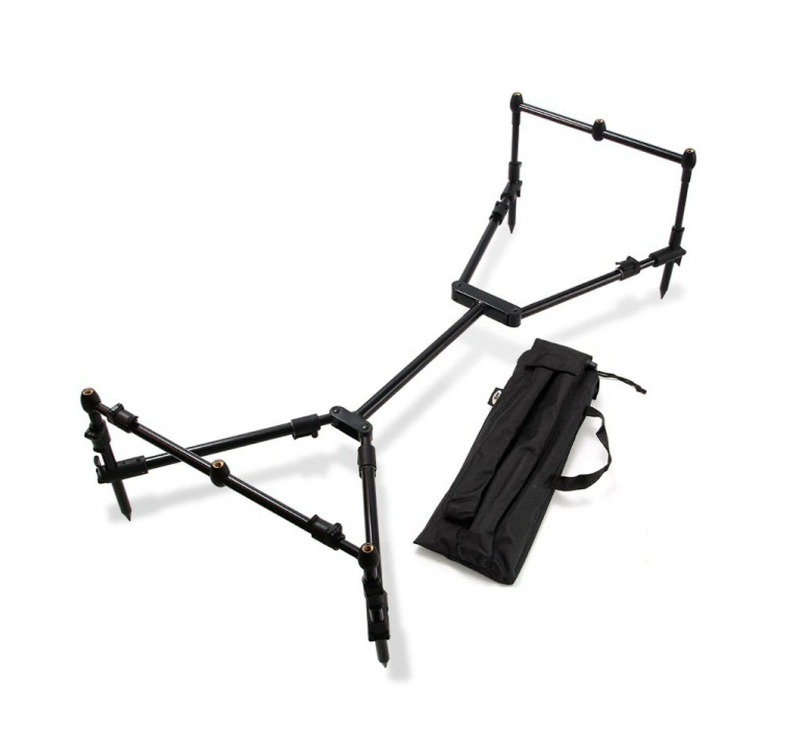 NGT Nomadic Fishing Compact Rod Pod, Tasche For 3 Carp Rods Reels Etc