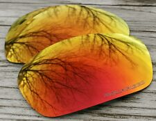 Fire Red Orange Custom Polarized Replacement Sunglass Lenses for Oakley Jawbone
