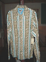 Retro Old Stock Long Sleeve Snap Western Shirt. Floral. With Tags. S,m,l,xl