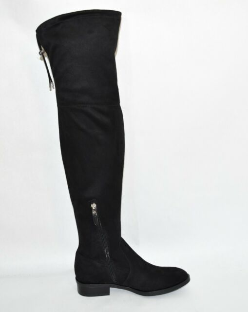8598792cda8 Sam Edelman Paloma Black Faux Suede Over The Knee BOOTS Size 6 for ...