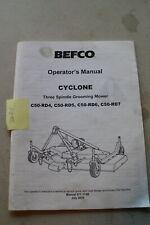 Befco C50 Rd4 C50 Rd5 C50 Rd6 C50 Rd7 Cyclone Mower Operators Manual