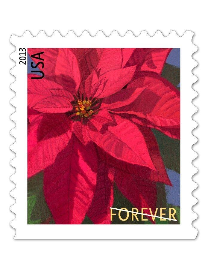 2013 46c Poinsettia, America's Christmas Flower Scott 4