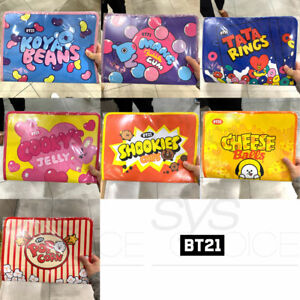 BTS BT21 Official Authentic Goods Zipper File Folder Snack Ver + Tracking Number