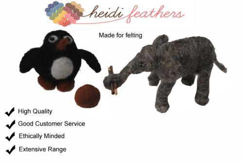 Heidifeathers® Handle Needles Pack 5 Medium Felting Needles /& Wooden Handle