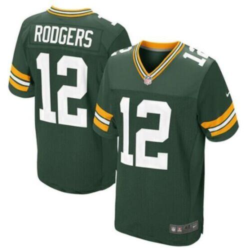 Men/'s Green Bay Packers Aaron Rodger Green Jersey