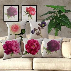 3D-Rosa-Peonia-Impreso-Cojines-Almohadon-Funda-Cubierta-para-el-Hogar-Sala-Deco
