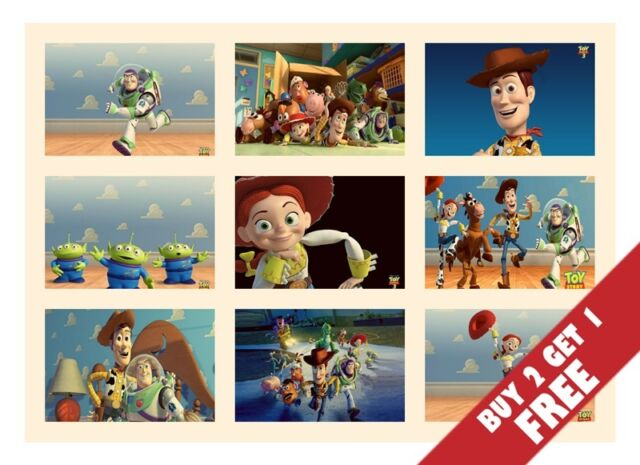 TOY STORY ANIMATION MOVIE Film Posters Children Wall Room Decor 30X21cm On Board