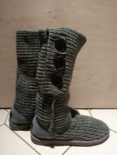 UGG Size 9 Womens 5819 Grey Classic Cardy Comfy Mid-Calf Button Boots