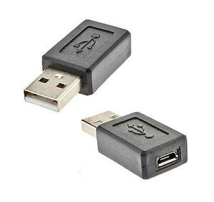 Impresa-2x-USB-2-0-A-Maschio-a-Micro-USB-B-DONNA-M-F-Adattatore-Convertitore-Video-Connettore-fo