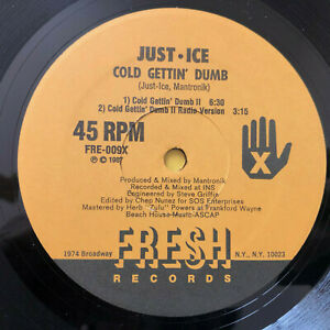 Just-Ice-Cold-Gettin-039-Dumb-HIP-HOP-1987-UK-Vinyl-12-034-FRE009-MINT-UNPLAYED