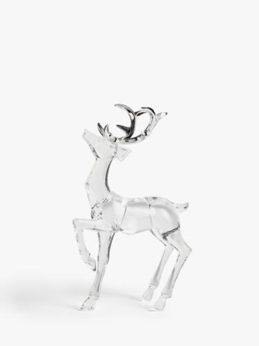 Clair RRP £ 25 John Lewis Snowscape Acrylique Stag Décoration de Noël