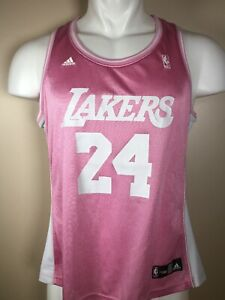 Details about RARE Kobe Bryant #24 Adidas NBA 4Her Pink Los Angeles Lakers Jersey Women's XL