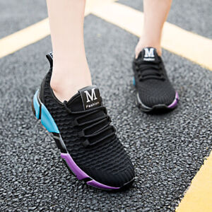 Women-039-s-Breathable-Flat-Athletic-Casual-Running-Shoes-Sneakers-Sports-Walking