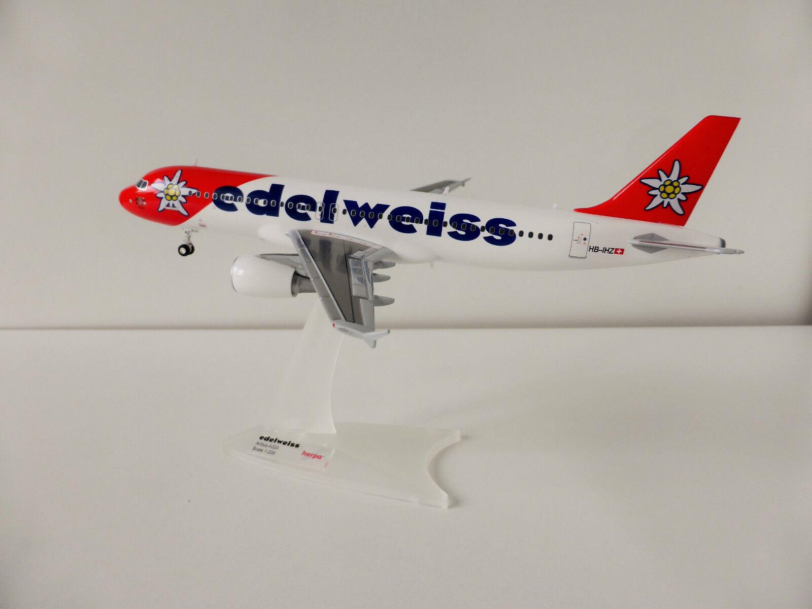 Edelweiss air airbus a320 - 1   200 herpa 557146 a 320 victoria hb-ihz schweizer schweiz