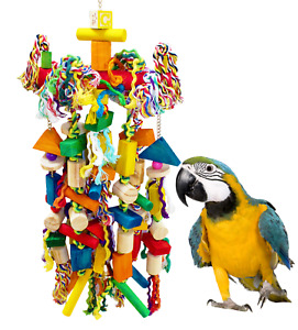 1345 Large Tri Swing Parrot Bird Cage Toys Cages Toy Chew Amazon Macaw Cockatoo