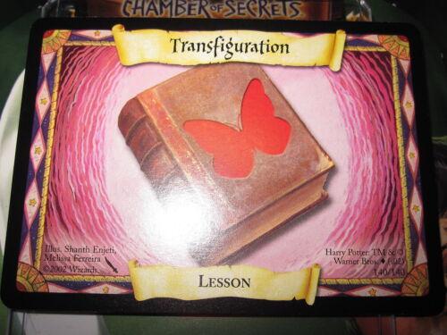 HARRY POTTER TCG GAME CARD CHAMBER OF SECRETS LESSON TRANSFIGURATION 140//140 COM