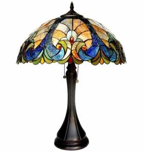 Image Is Loading Tiffany Style Victorian Bronze Table Lamp Desk Chloe