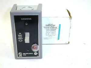 Siemens smffg1p manual motor starter 1 pole toggle switch for Manual motor starter switch