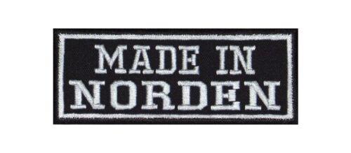 Made in Norden Biker Patch Aufnäher Motorrad MC Club Küste Fischkopf Heimat Lieb