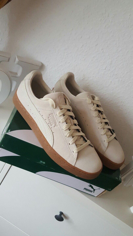 * Damen Puma Suede Classic Natural Damen * Herren Sneaker Schuhe beige creme Leder 43 78adcc