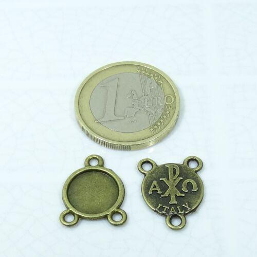 44 Abalorios Medallas 17x13mm T45C Bisutería Fornituras Beads Bijuteria Copper