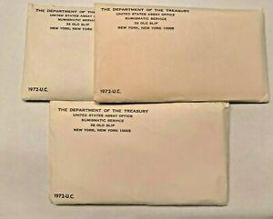RARE! 3 SETS PER LOT Sealed Unopened Envelopes 1971 US MINT UNCIRCULATED SETS