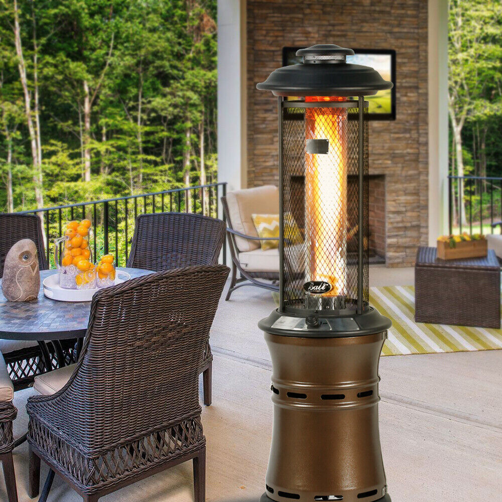 hOmeLabs Gas Patio Heater - 87 Inches Tall Standing Outdoor Heater with  Drink for sale online | eBay