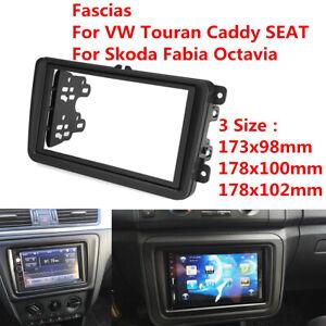 2-Din-Car-Stereo-Radio-Fascia-Panel-Frame-For-VW-Touran-Jetta-SEAT-SKODA-Fabia