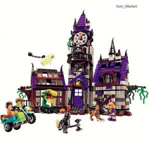 Scooby-Doo-Mystery-Mansion-Building-Block-Shaggy-Daphne-Velma-Figure-Puzzle-toy
