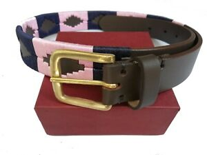 HIGH QUALITY GENUINE LEATHER ARGENTINA STRONG RIDING POLO BELT FIVE HASH