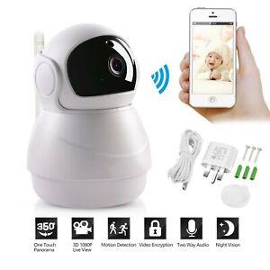 Details about HD Wireless Wifi IP Camera IR Security Webcam 1080P Baby  Monitor CAM Pan Tilt UK