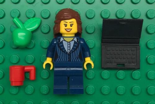 Figure city lawyer suit teacher laptop girl Lego Businesswoman Minifig Lot