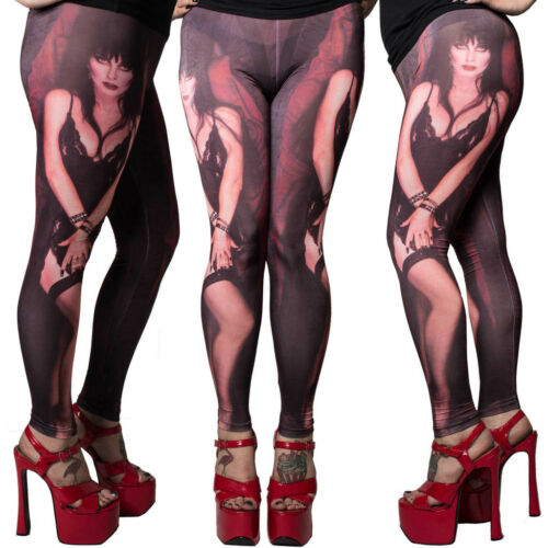 Kreepsville 666 Elvira My Coffin Leggings Size Large