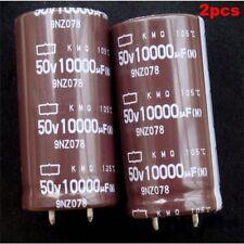 2pcs 10000uF/50V Nippon KMQ Audio Grade Power Capacitor 25x50mm 105°C