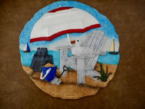 """NEW 9 1//2/"""" SPOONTIQUES BEACH STEPPING STONE OR HANGING PLAQUE 13035"""
