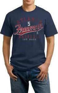 Atlanta-Braves-FREDDIE-FREEMAN-5-RETRO-DISTRESSED-Men-039-s-Tee-Shirt-7-Sizes