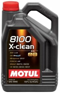MOTUL-OLIO-8100-X-CLEAN-5W40-5L-SINTETICO-ACEA-C3-API-SM-CF-MB-BMW-VW-MOTORE-DI