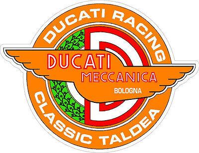 "#p311 6.5/"" pair  Ducati Meccanica Moto Racing Vintage Decal Sticker LAMINATED"