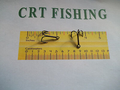 50 OR 100 PACK EAGLE CLAW 924BP BLACK ROUND BEND TREBLE HOOK SIZE 1 CHOOSE 25
